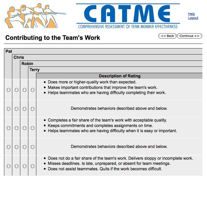 Comprehensive Assessment of Team Member Effectiveness (CATME) and Team-Maker